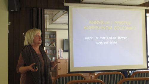 "Predavanje dr.Rožman – ""Agresija i pristup agresivnom bolesniku"""